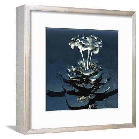 3D Flower-kjolak-Framed Art Print