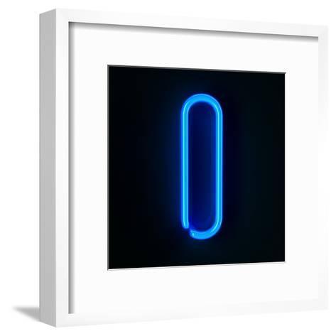 Neon Sign Letter I-badboo-Framed Art Print