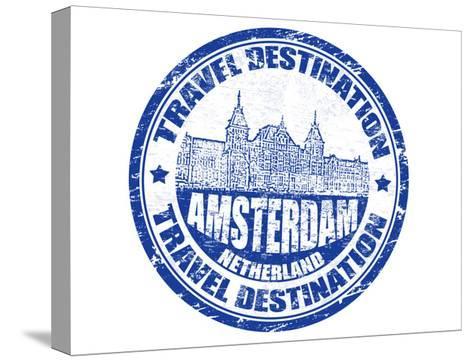 Amsterdam Stamp-radubalint-Stretched Canvas Print