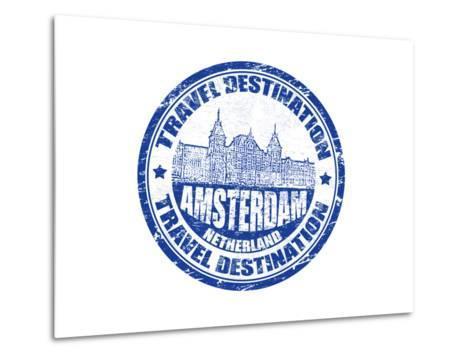 Amsterdam Stamp-radubalint-Metal Print