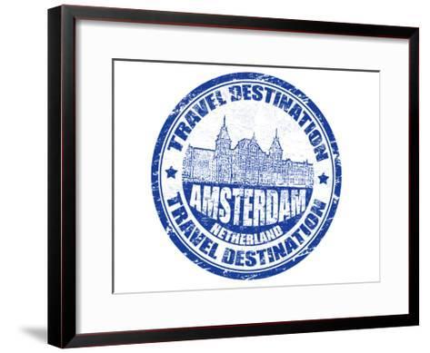 Amsterdam Stamp-radubalint-Framed Art Print