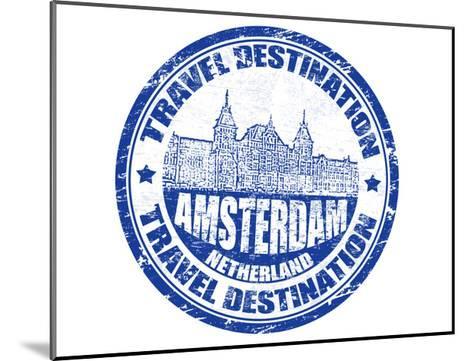 Amsterdam Stamp-radubalint-Mounted Art Print