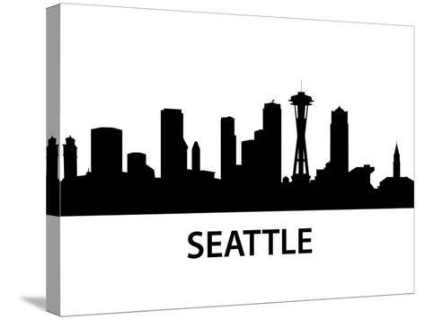 Skyline Seattle-unkreatives-Stretched Canvas Print