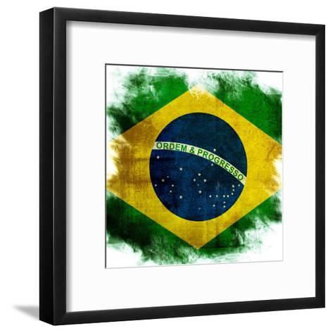 Flag Of Brazil-ilolab-Framed Art Print