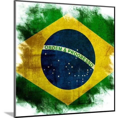 Flag Of Brazil-ilolab-Mounted Art Print