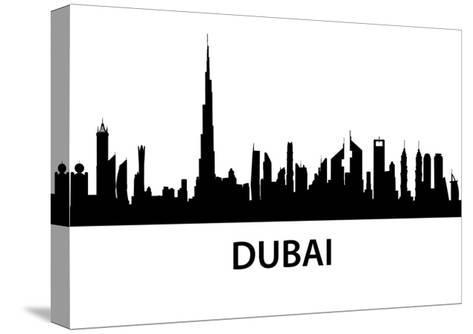 Dubai Skyline-unkreatives-Stretched Canvas Print