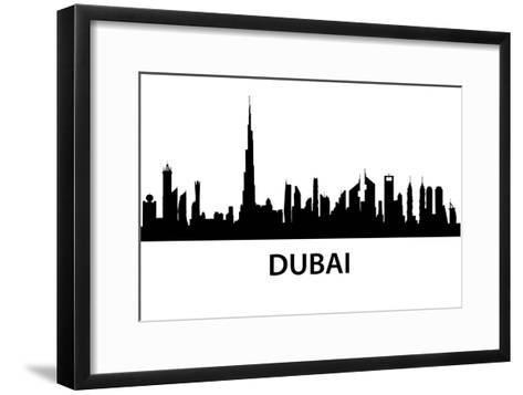 Dubai Skyline-unkreatives-Framed Art Print