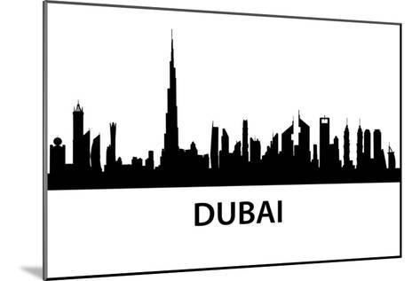 Dubai Skyline-unkreatives-Mounted Art Print