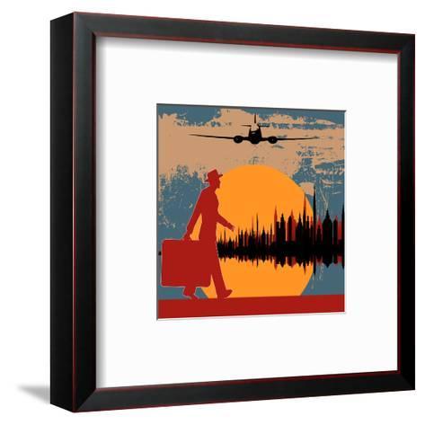 City Break-Petrafler-Framed Art Print
