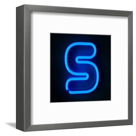 Neon Sign Letter S-badboo-Framed Art Print