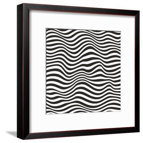 Striped Pattern-Magnia-Framed Art Print