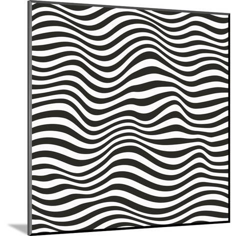 Striped Pattern-Magnia-Mounted Art Print