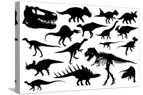 Dinosaurs-laschi adrian-Stretched Canvas Print