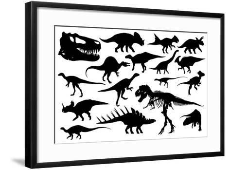 Dinosaurs-laschi adrian-Framed Art Print