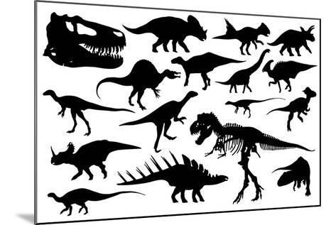 Dinosaurs-laschi adrian-Mounted Art Print
