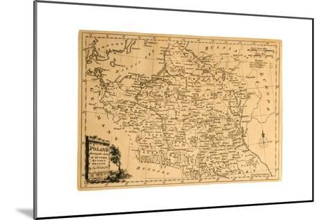 Old Map Of Poland-Tektite-Mounted Art Print