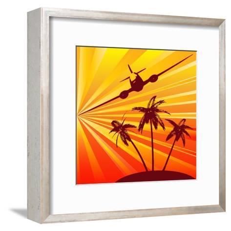 Tropical Travel-Petrafler-Framed Art Print