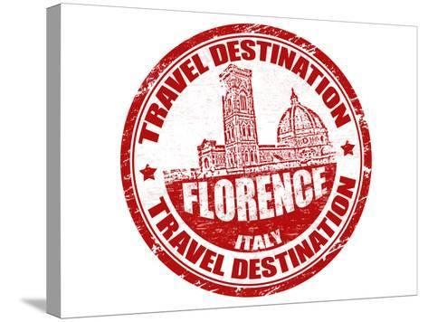 Florence Stamp-radubalint-Stretched Canvas Print