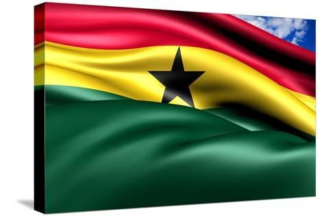Flag Of Ghana-Yuinai-Stretched Canvas Print