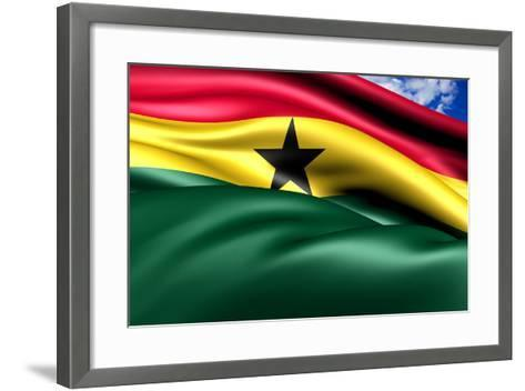 Flag Of Ghana-Yuinai-Framed Art Print