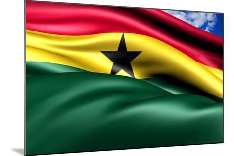 Flag Of Ghana-Yuinai-Mounted Art Print