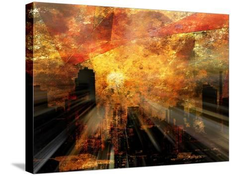 Nyc Sunlight-rolffimages-Stretched Canvas Print