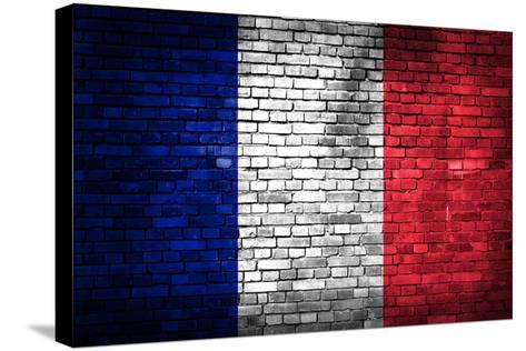 France Flag-kwasny221-Stretched Canvas Print