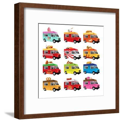 Food Truck-Artisticco LLC-Framed Art Print