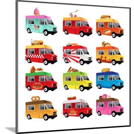 Food Truck-Artisticco LLC-Mounted Art Print