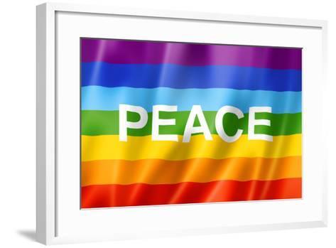 Rainbow Peace Flag-daboost-Framed Art Print