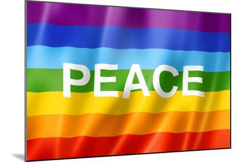 Rainbow Peace Flag-daboost-Mounted Art Print