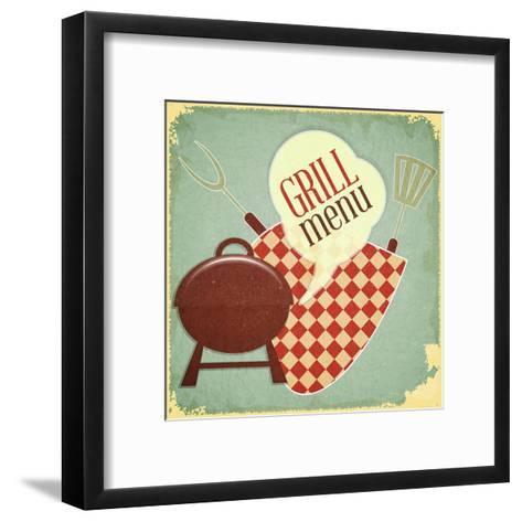 Grill Menu-elfivetrov-Framed Art Print