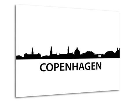 Skyline Kopenhagen-unkreatives-Metal Print
