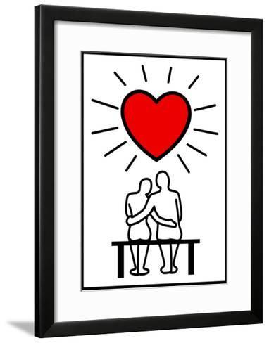 Couples In Love-Rudall30-Framed Art Print