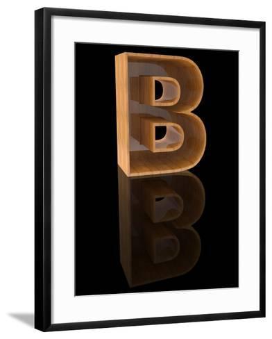 Wooden Letter B-Andriy Zholudyev-Framed Art Print