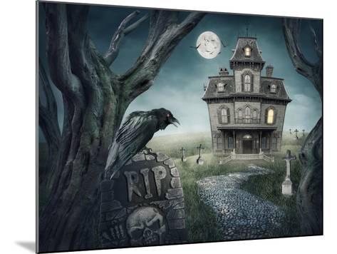 Haunted House-egal-Mounted Art Print