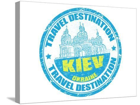 Kiev Stamp-radubalint-Stretched Canvas Print