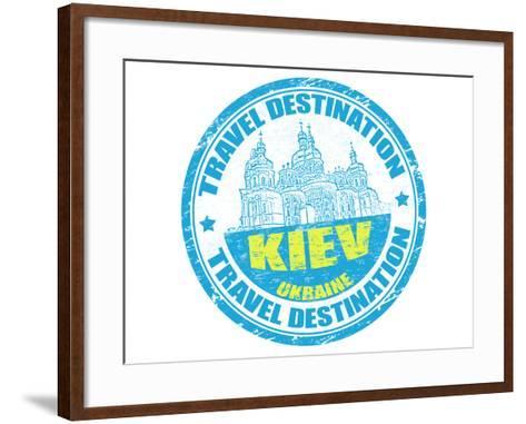 Kiev Stamp-radubalint-Framed Art Print