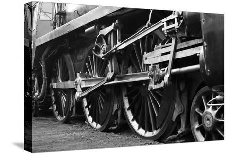 Steam Train Wheels-neillang-Stretched Canvas Print