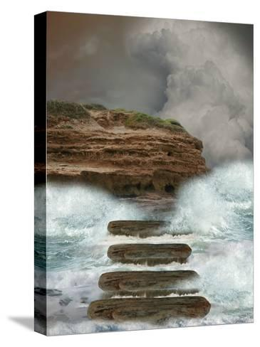 Storm In The Ocean-justdd-Stretched Canvas Print