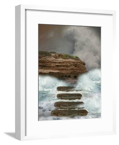 Storm In The Ocean-justdd-Framed Art Print