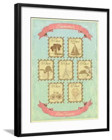 Summer Retro Card-elfivetrov-Framed Art Print
