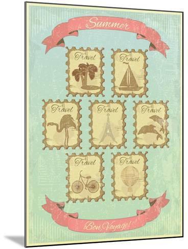 Summer Retro Card-elfivetrov-Mounted Art Print