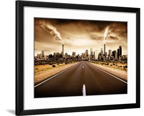 Sign Of The Times-kwest19-Framed Art Print