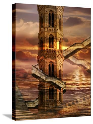 Ethereal Towers- sattva_art-Stretched Canvas Print