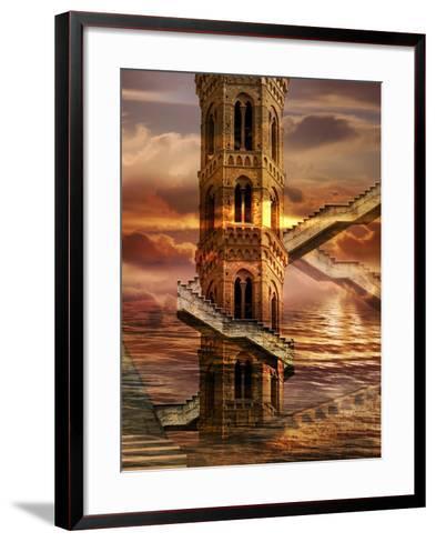 Ethereal Towers- sattva_art-Framed Art Print