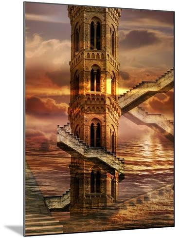 Ethereal Towers- sattva_art-Mounted Art Print