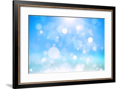 Sunshine Bokeh-alexaldo-Framed Art Print