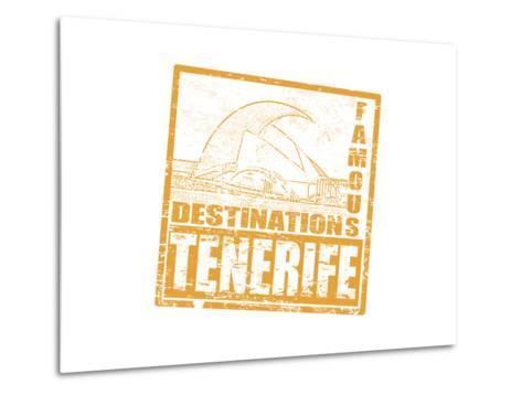 Tenerife Stamp-radubalint-Metal Print