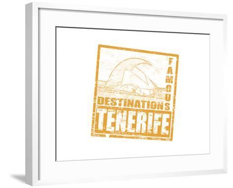Tenerife Stamp-radubalint-Framed Art Print